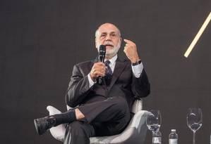 Ben Bernanke, ex-presidente do Federal Reserve (Fed, o Banco Central dos EUA) Foto: Divulgação