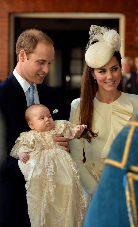 George com os pais, o príncipe William e Kate Middleton Foto: WPA Pool / Getty Images