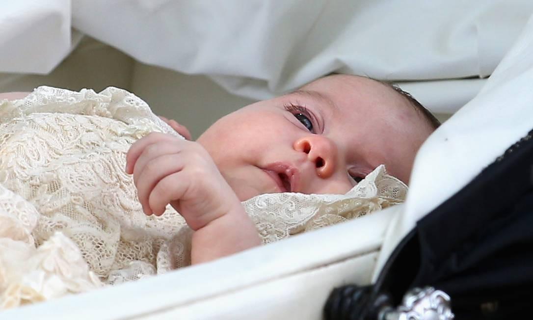 A pequena Charlotte em seu batizado Foto: Chris Jackson / Getty Images