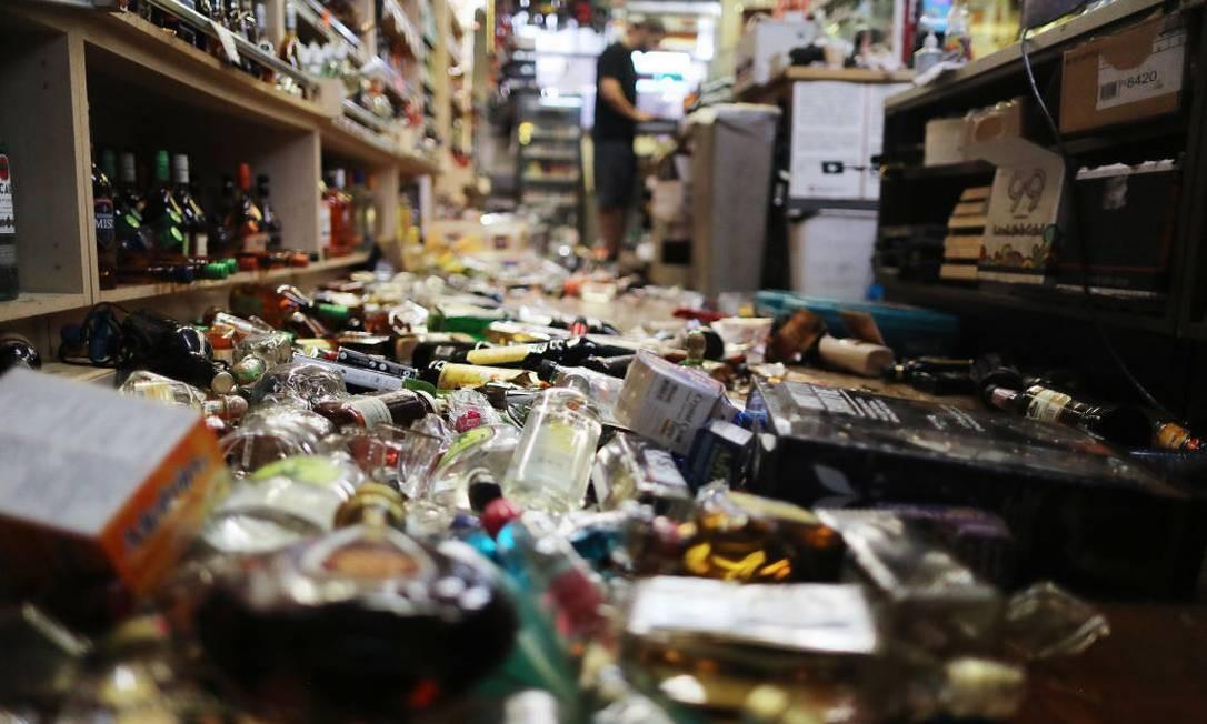 """O desastre reacendeu os temores dos californianos pela iminência do chamado """"Big one"""", um terremoto de grandes proporções que pode atingir o estado Foto: Mario Tama / Getty Images"""