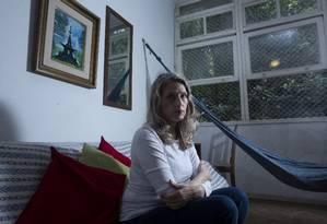 Katja Schilirò acumulou uma dívida de R$ 30 mil e corre o risco de perder o apartamento Foto: Bruno Kaiuca / Agência O Globo