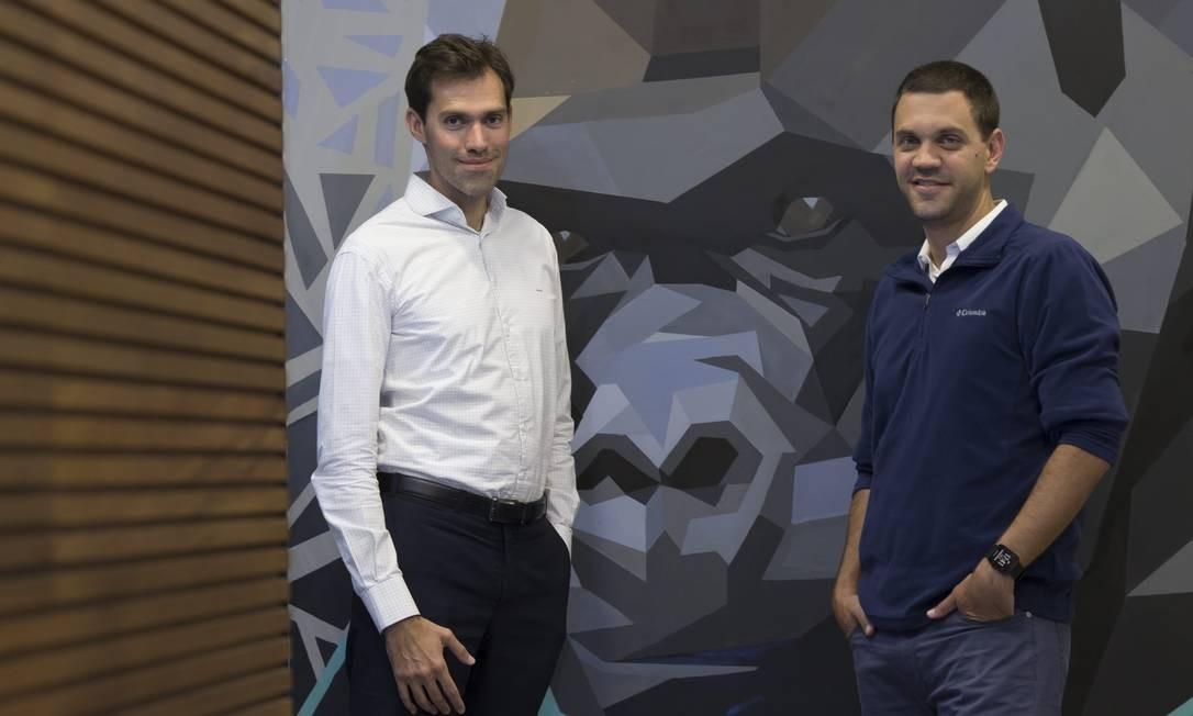 Guilherme Assis e Robinson Dantas, da Gorila Invest Foto: Edilson Dantas / Agência O Globo