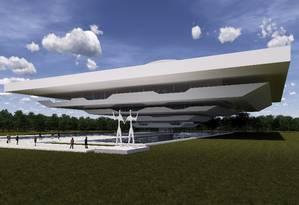 Perspectiva. Alunos de Arquitetura e Urbanismo da UVA mostraram como ficaria o museu Foto: Divulgação/Veiga de Almeida