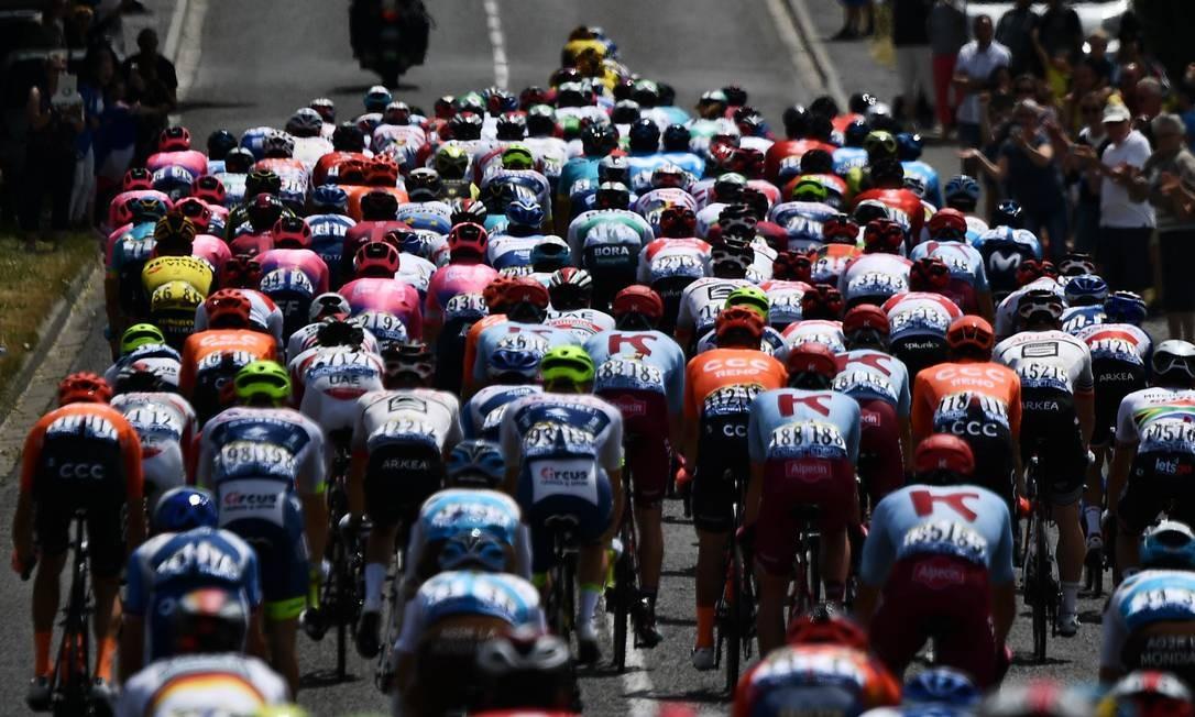106ª edição da corrida de ciclismo Tour de France entre Binche e Epernay Foto: JEFF PACHOUD / AFP