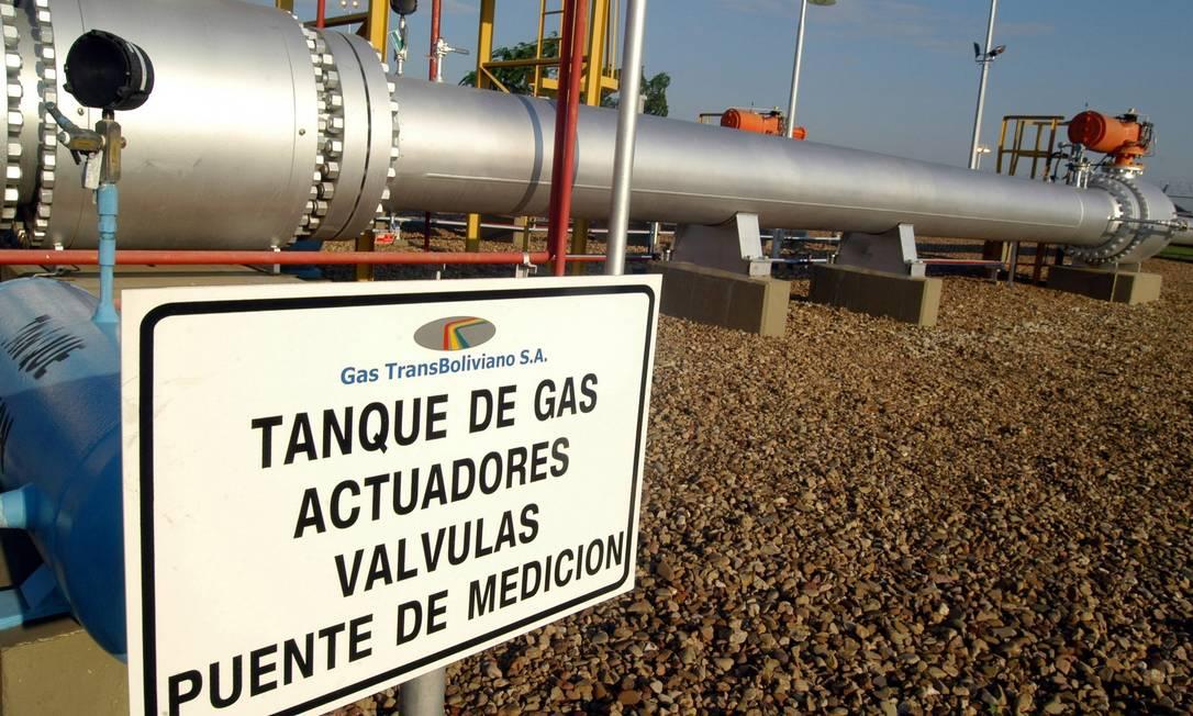 Trecho do gasoduto Brasil-Bolívia em território boliviano Foto: Diego Giudice / Bloomberg