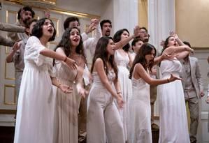O Coro Juvenil São Vicente A Cappella, do tradicional Colégio São Vicente de Paulo, em Laranjeiras, ganhou o primeiro lugar da XXIII Edição do Suma Cum Laude - International Youth Music Festival, na Áustria. Foto: Divulgação/Guga Millet