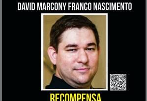David Marcony Franco Nascimento, de 37 anos, é acusado deestuprar seis crianças na Zona Oeste do Rio Foto: Divulgação/ Disque Denúncia