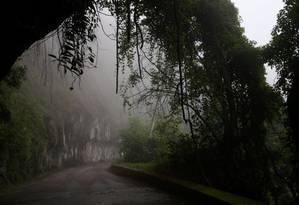 Nevoeiro no Alto da Boa Vista em 2018: bairro é conhecido pelas baixas temperaturas Foto: Fabiano Rocha / Agência O Globo