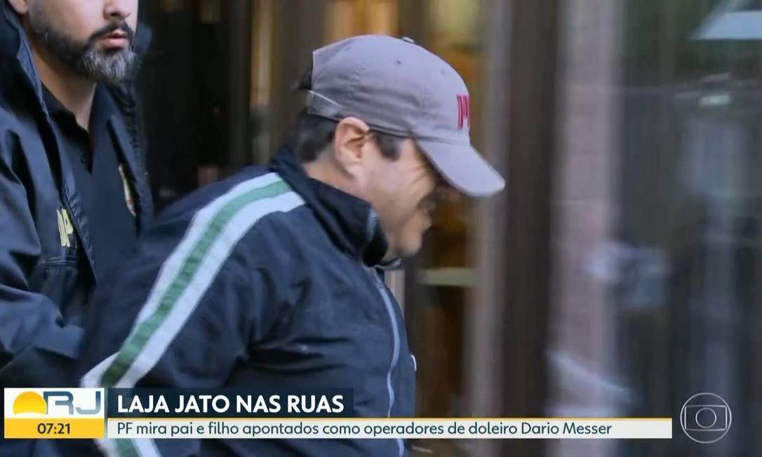 foi preso por agentes da PF em Ipanema, Zona Sul do Rio Foto: Reprodução/TV Globo