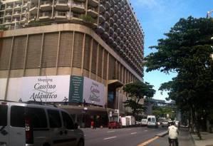Fachada do Shoppinhg Cassino Atlântico, em Copacabana Foto: Divulgação
