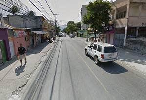A Rua Piraquara, em Realengo Foto: Google Street View / Reprodução