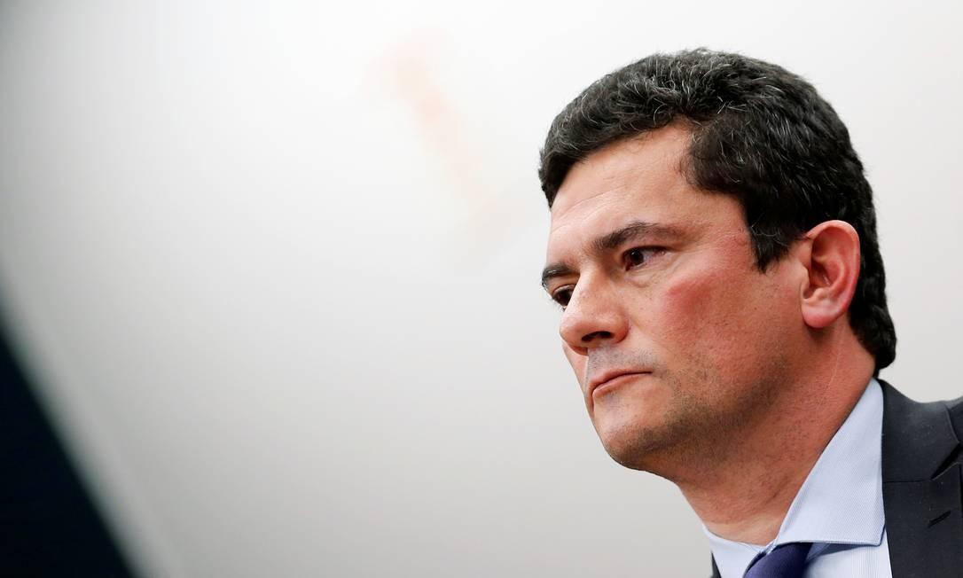 Ministro da Justiça, Sergio Moro fala a parlamentares em Brasília Foto: ADRIANO MACHADO 02-07-2019 / REUTERS
