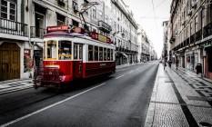 Avenida em Portugal Foto: Banco de imagens
