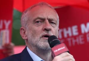 Corbyn defende um novo referendo e permanência na UE Foto: Neil Hall / REUTERS/18-05-2019