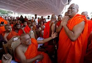 Galagoda Aththe Gnanasara Thero, chefe do grupo nacionalista Bodu Bala Sena,