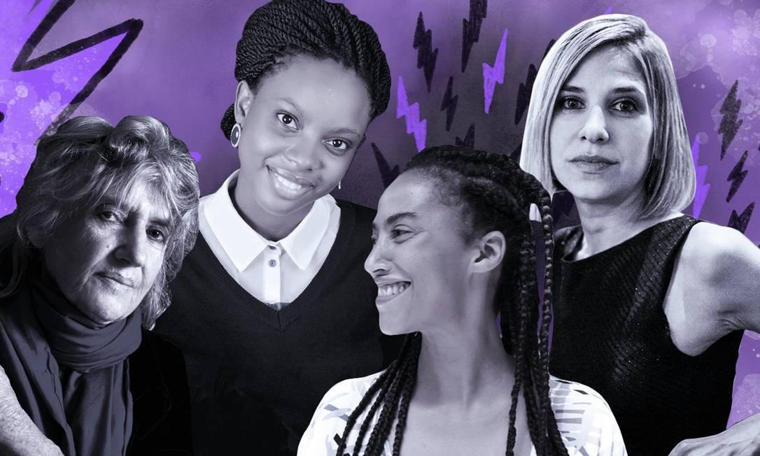 Atrações da Flip, da esquerda para a direita: a brasileira Maureen Bisilliat, a nigeriana Ayobami Adebayo, a portuguesa Grada Kilomba e a venezuelana Karina Sainz Borgo Foto: Divulgação / Agência O GLOBO