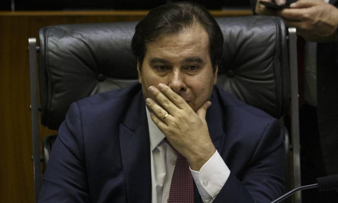 Rodrigo Maia afirmou que a eleição de 2020 custará mais do que uma eleição do regime geral Foto: Daniel Marenco / Agência O Globo