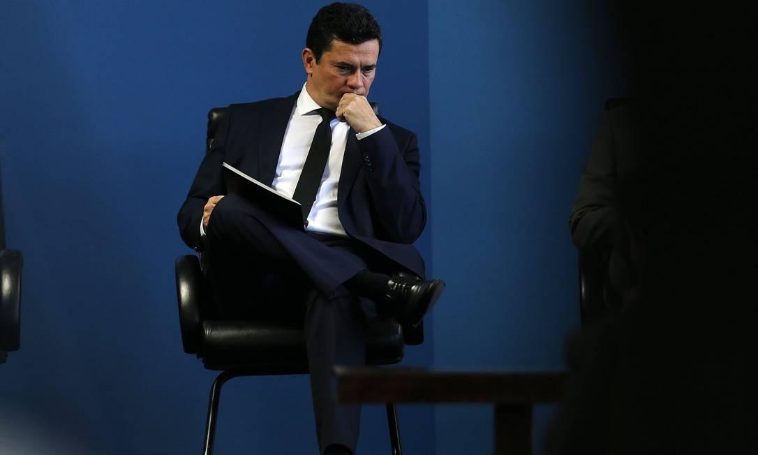 A operação investiga a invasão de contas do Telegram do ministro Sergio Moro e outras autoridades Foto: Jorge William / Agência O Globo