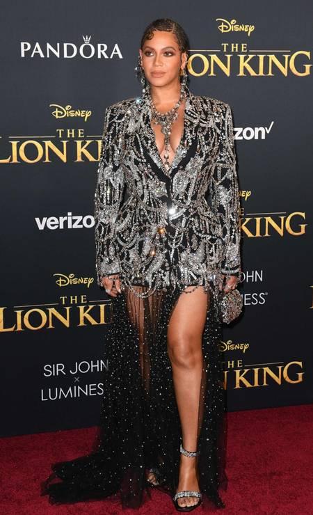 O look de Queen B em Hollywood Foto: ROBYN BECK / AFP