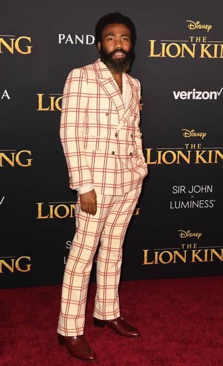 Donald Glover, que dá voz a Simba Foto: ROBYN BECK / AFP