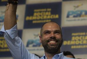 Prefeito Bruno Covas defendeu abertamente a saída de Aécio Neves do partido Foto: Edilson Dantas / Agência O Globo (12/03/2018)
