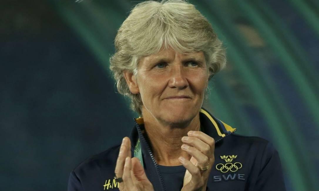 Pia Sundhage foi campeã olímpica com os EUA em 2008 e 2012 Foto: Gonzalo Fuentes / Reuters