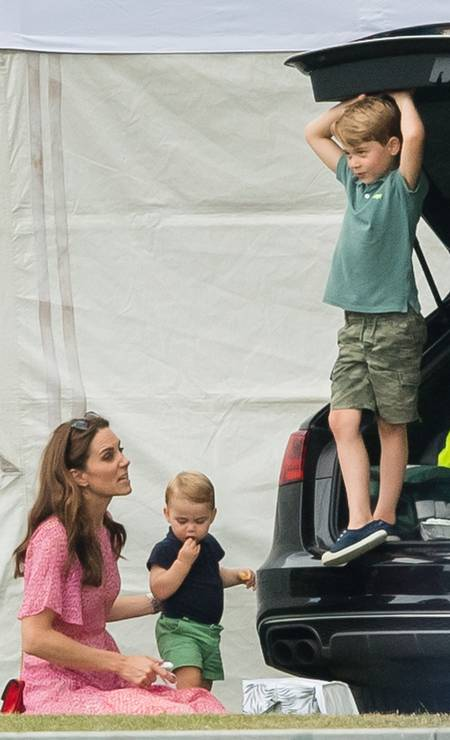 Kate e seus meninos: Louis e George Foto: Samir Hussein / Samir Hussein/WireImage