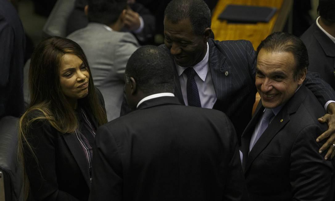 Deputada Flordelis (PSD-RJ) no plenário da Câmara Foto: Daniel Marenco / Agência O Globo