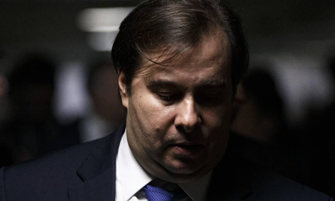 O presidente da Câmara, Rodrigo Maia Foto: Daniel Marenco / Agência O Globo