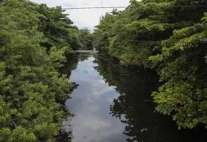 O Canal das Taxas teria agentes comunitários fazendo trabalhos de limpeza e conscientização dos moradores dos arredores Foto: Bruno Kaiuca / Agência O Globo