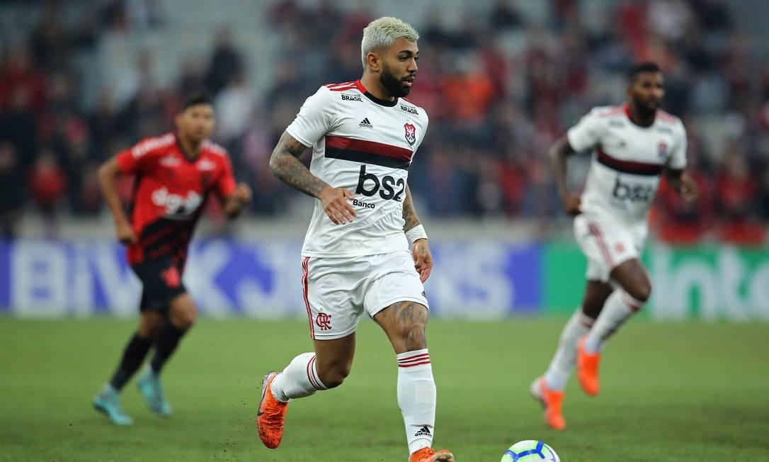 Gabriel Barboso marcou o gol do Flamengo na Arena da Baixada Foto: Heuler Andrey/DiaEsportivo/Agência O Globo / Agência O Globo
