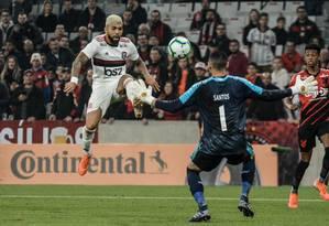 Gabigol foi o autor do gol rubro-negro na estreia de Jorge Jesus Foto: Photo Press / PHOTOPRESS