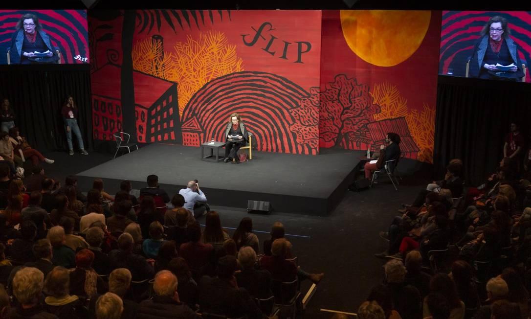 Abertura da Flip com Walnice Nogueira Foto: Leo Martins / Agência O Globo