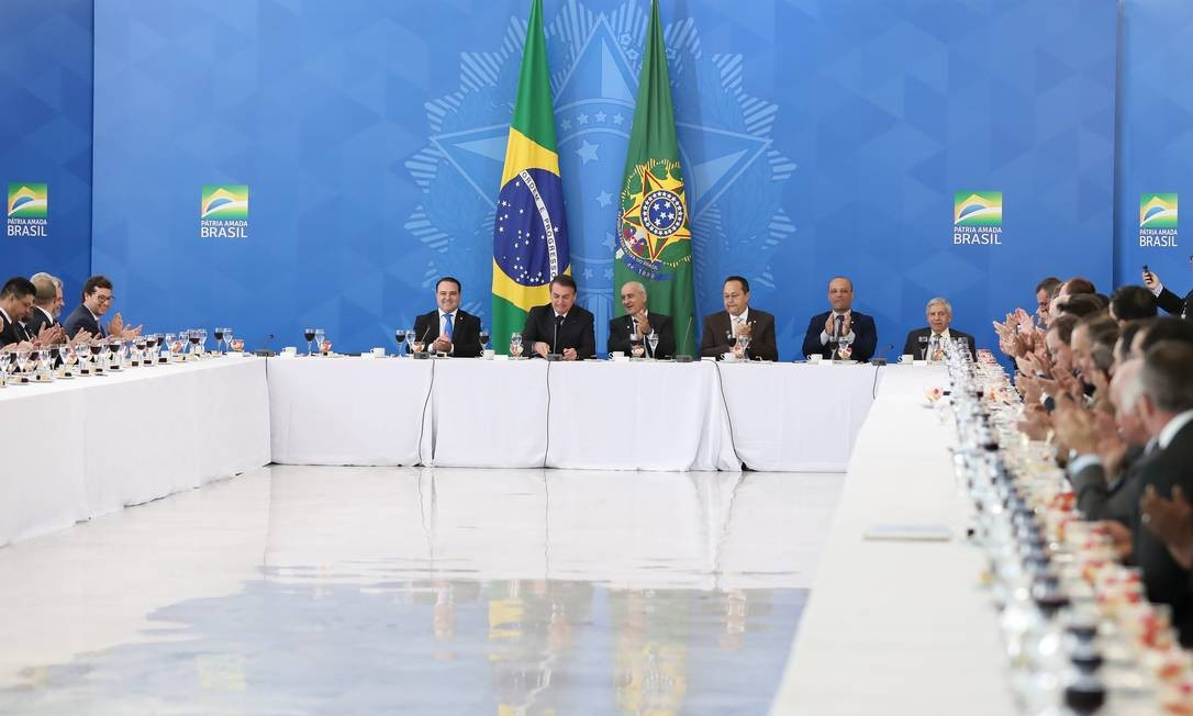 O presidente tomou café da manhã com parlamentares da bancada evangélica Foto: Marcos Corrêa / PR