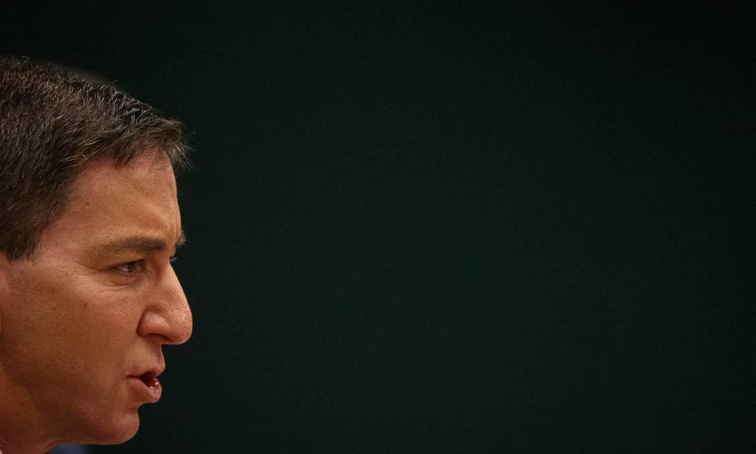 "Glenn Greenwald, editor do site ""The Intercept Brasil"", em audiência na CCJ do Senado Foto: Daniel Marenco / Agência O Globo"