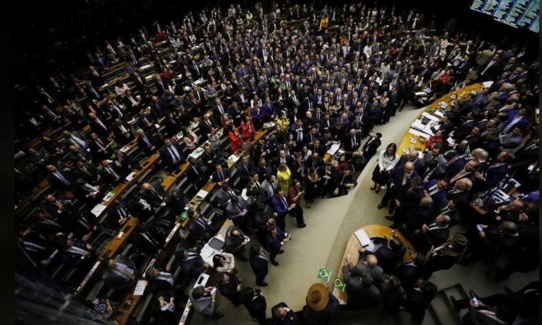 Votação da Reforma da Previdência na Câmara dos Deputados, em Brasília Foto: Reuters