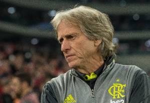 Jorge Jesus como técnico do Flamengo Foto: Alexandre Vidal/Flamengo