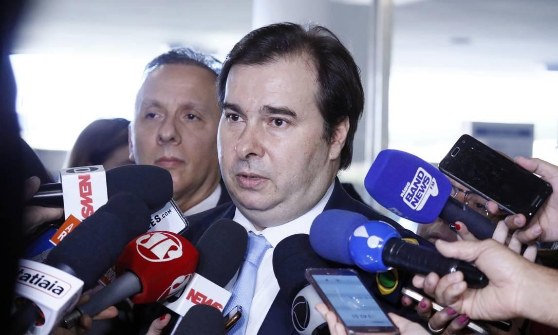 Presidente da Câmara, deputado Rodrigo Maia (DEM-RJ) concede entrevista Foto: Luis Macedo / Câmara dos Deputados