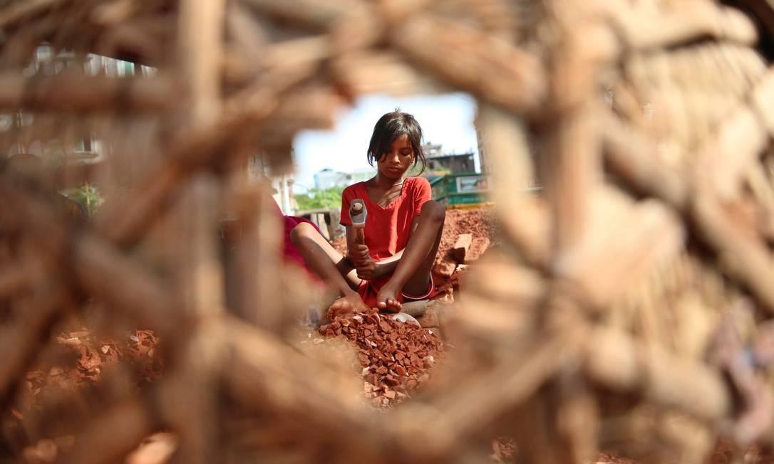 Trabalho infantil em Bangladesh Foto: NurPhoto / NurPhoto via Getty Images
