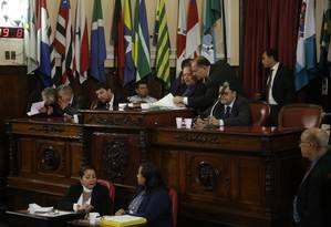 Plenário: após 10 anos seguidos na presidência da Câmara Municipal, Paulo Bagueira (SD) foi para a Alerj e deu lugar ao ex-líder de governo, Milton Cal (PP) Foto: Fábio Guimarães / Agência O Globo