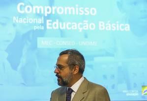O ministro da Educação, Abraham Weintraub, apresentou o 'Programa Future-se' para o conselho de governo Foto: Marcelo Camargo/Agência Brasil / Agência O Globo