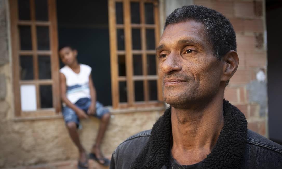 Varlei Rocha Alves, o Capoeira, ganha casa com dinheiro de vaquinha virtual Foto: ROBERTO MOREYRA / Agência O Globo