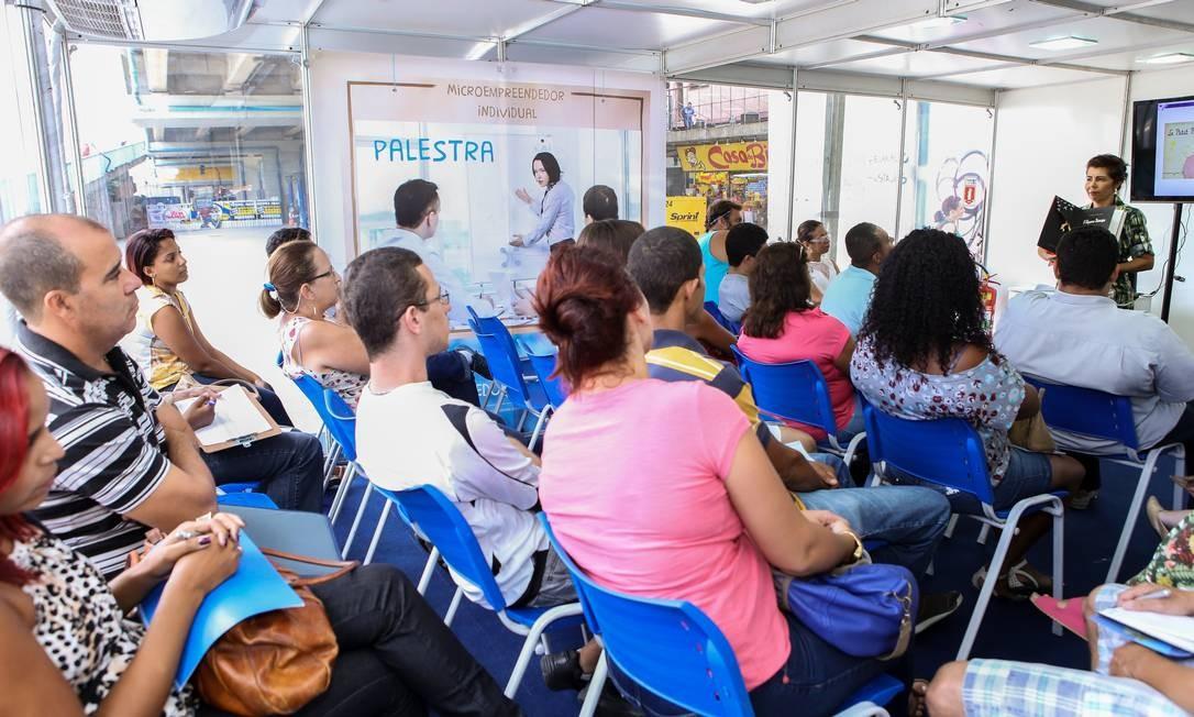 Palestra do Sebrae para ser microempreendedor Foto: Luciana Muniz / Divulgação