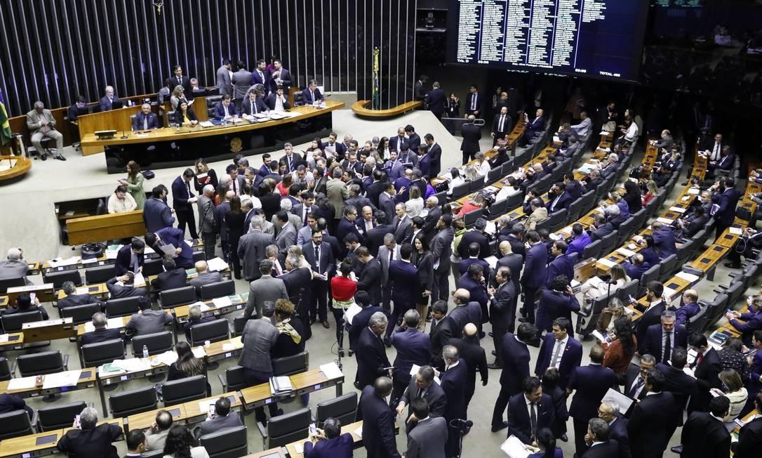 Sessão para continuação da votação da PEC 6/2019 - Reforma da Previdência. Luis Macedo/Câmara dos Deputados Foto: Luis Macedo / Agência O GLOBO