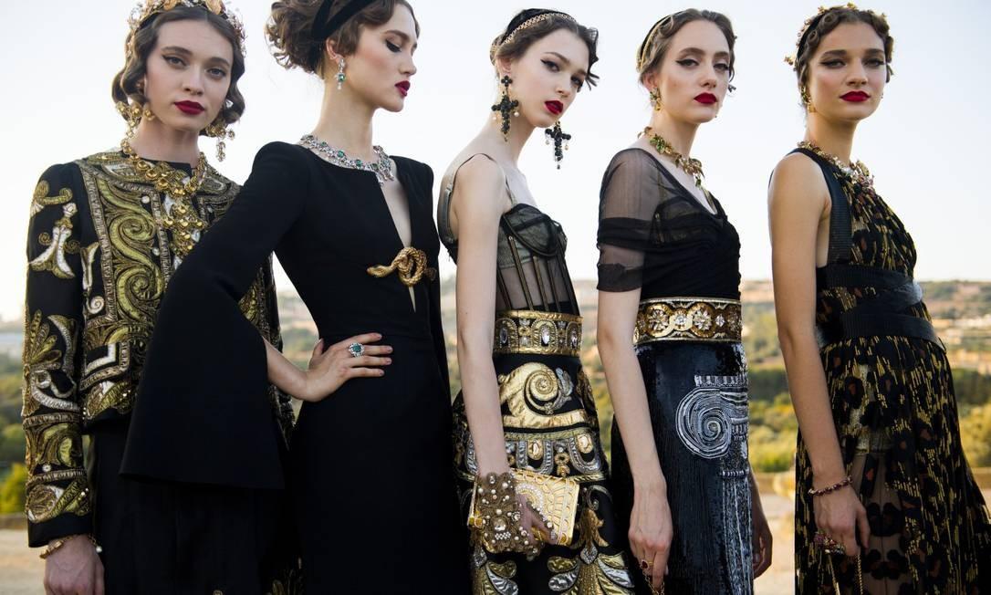 Alta moda da Dolce & Gabbana: desfile na Sicília Foto: Divulgação