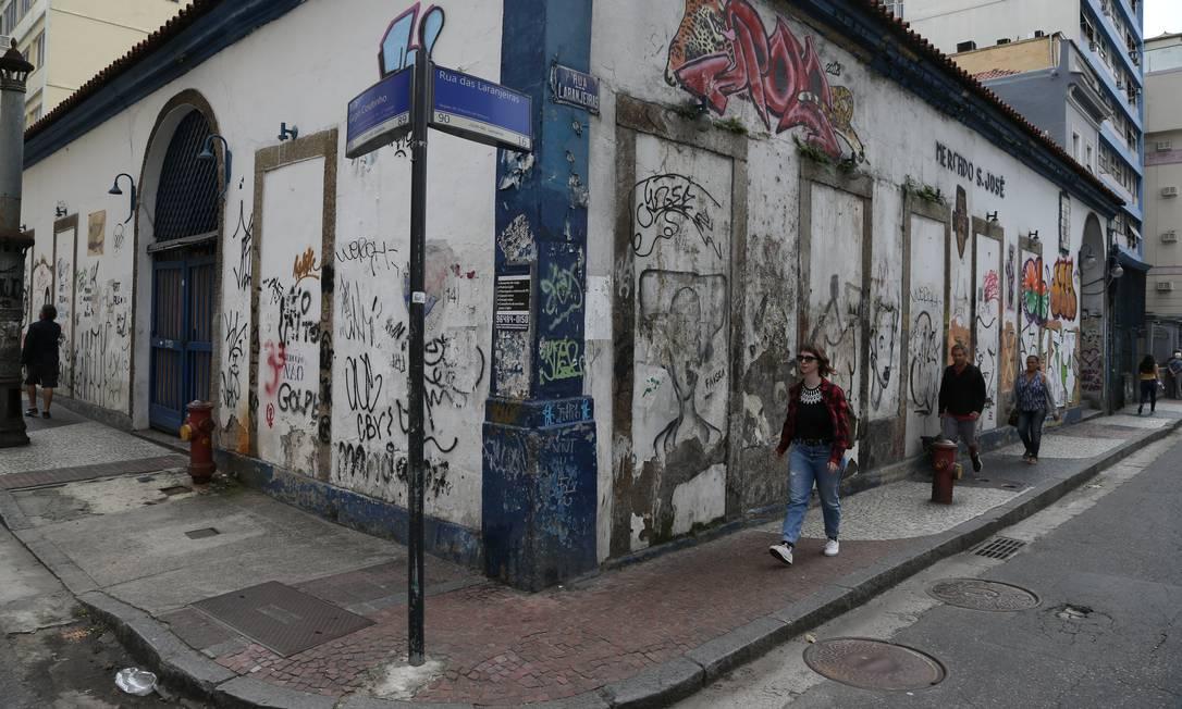 Mercado São José foi fechado em setembro de 2018 por decisão judicial Foto: Pedro Teixeira / Agência O Globo