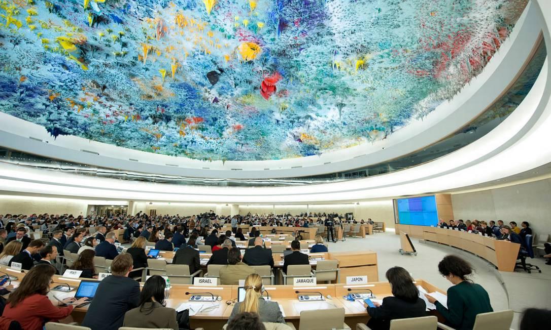 O Conselho de Direitos Humanos da ONU em Genebra, que encerrou votações de sua 41ª sessão nesta sexta-feira Foto: Reprodução / ONU 21-10-2016