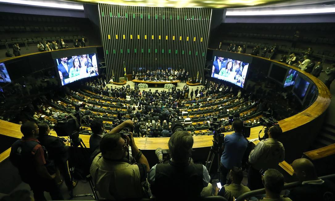 Plenário do Congresso Nacional, em Brasília Foto: Jorge William / Agência O Globo