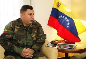 Adido: Basante, que comandava base com 150 homens, será representante militar de Guaidó no Brasil Foto: Jorge William