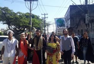 Intolerância religiosa: manifestantes fazem ato em Nova Iguaçu Foto: Regiane Jesus